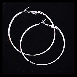 Excellent quality Silver Plated Large Hoops